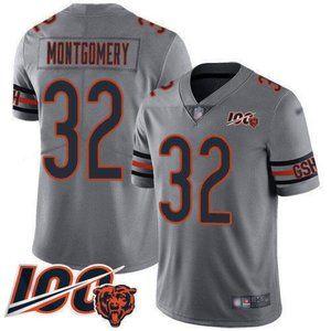 Chicago Bears David Montgomery 100th Season Jersey